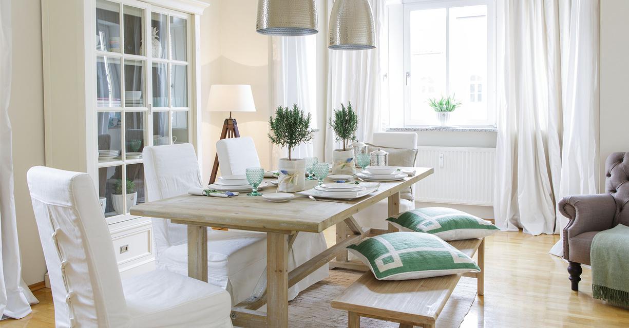 Schwedenhaus inneneinrichtung modern  Esszimmer im modern Country Look • Wohnen in Weiß