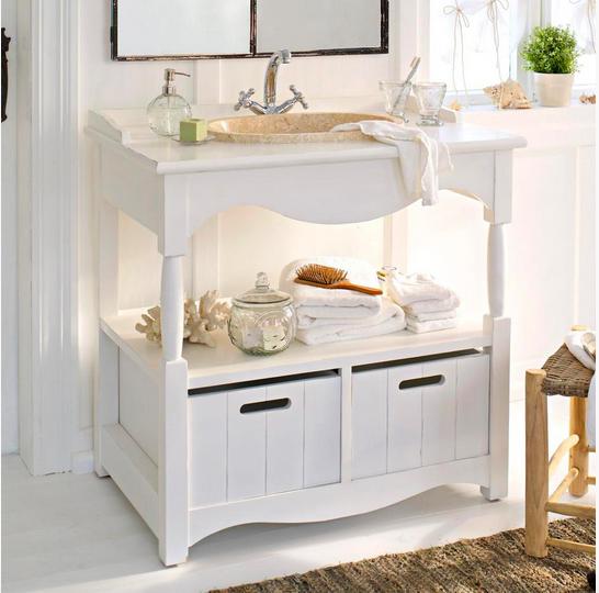 Weißer Landhaus-Chic: Der Waschtisch Savigneux