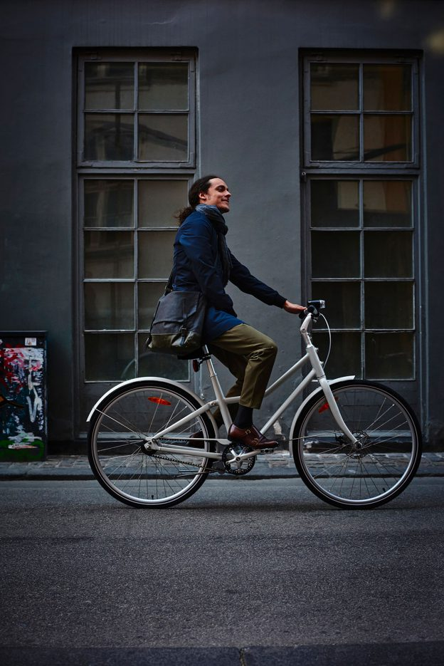 Ob Fahrt zum Einkauf oder ins Büro, ob Mann oder Frau: Das Fahrrad SLADDA passt sich an