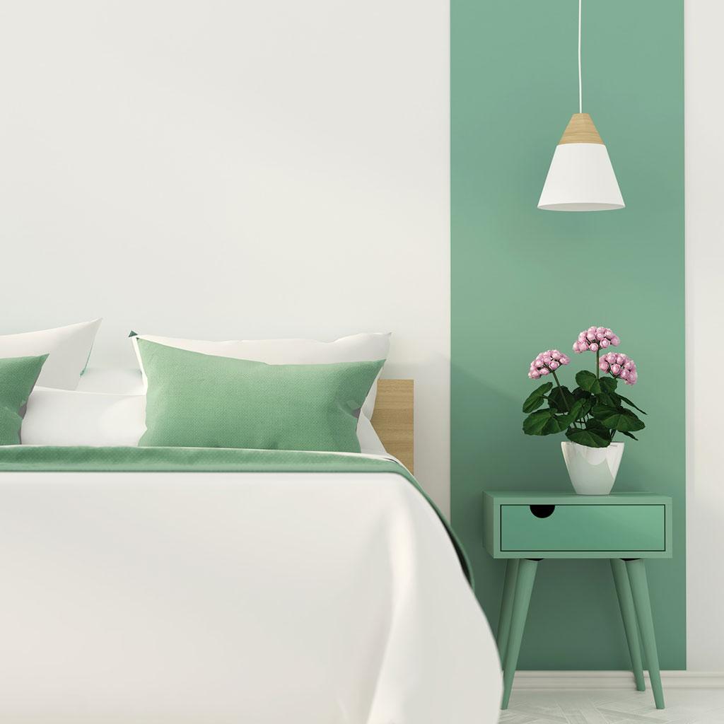 Weiß und Grün bringen den Frühling in jeden Raum