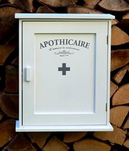 Apothekerschrank aus Holz Wandschrank für Medizin im Landhaus Stil - 30x35x13,5cm - 1