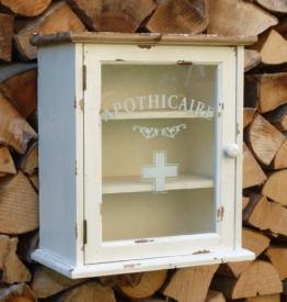 Apothekerschrank Wandschrank für Medizin in Shabby Chic Stil - 32x36x18 cm - 1