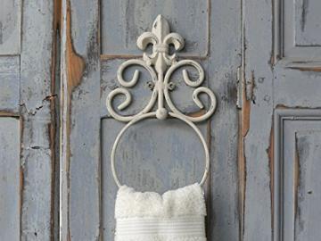 handtuchhalter handtuchring metall antik wei im shabby chic wohnen in wei. Black Bedroom Furniture Sets. Home Design Ideas