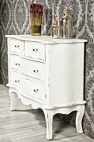 kommode antik wei shabby chic wohnen in wei. Black Bedroom Furniture Sets. Home Design Ideas