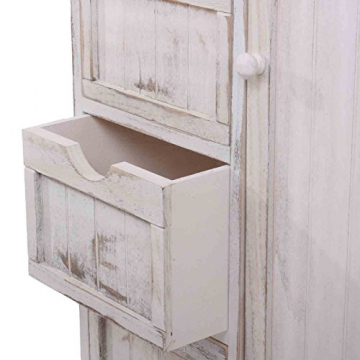 kommode 82x55x30cm shabby look vintage wei wohnen in wei. Black Bedroom Furniture Sets. Home Design Ideas