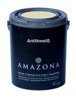 Kreidefarbe Antikweiß Farbe für Antiklook Shabby Chic - 750ml - 1