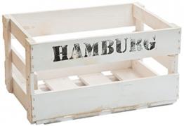 neue weiße Weinkiste / Holzkiste / obstkiste aus dem Alten Land xxx ca 49 x 30 x 28 cmxxx (HAMBURG) - 1
