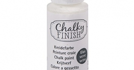 Rayher Hobby 38866102 Chalky Finish for glass, Flasche 59 ml, weiß - 1