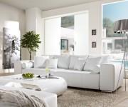 DELIFE Big-Sofa Marbeya 290x110cm Weiss mit Schlaffunktion, Big Sofas