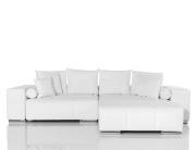 DELIFE Big-Sofa Marbeya Weiss 280x115 Hocker und Kissen, Big Sofas