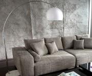 DELIFE Bogenlampe Lounge Bigdeal 180x190 Weiss höhenverstellbar, Stehleuchten