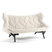 Kartell - Foliage Sofa, Wollstoff weiß / Beine schwarz