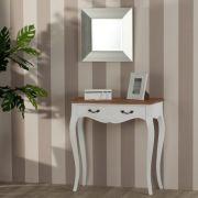 Konsole Louis Natural & White, 80x35x80cm