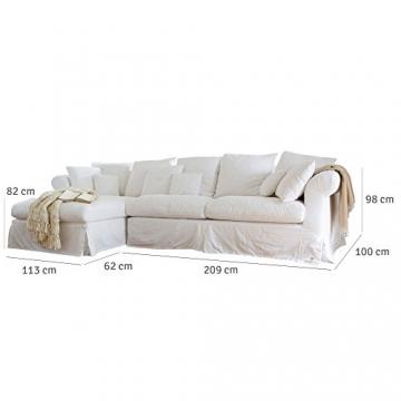 loberon sofa new haven im landhausstil wohnen in wei. Black Bedroom Furniture Sets. Home Design Ideas