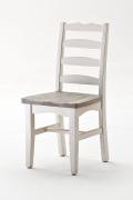 Massivholz Stuhl 2 x Stühle Kiefer weiß Landhaus Cottage12