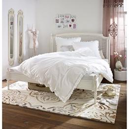 Romantische Bettwäsche mit Rüschen 100% Baumwolle Weiß 135x200 - 1