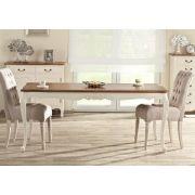Tisch Dorothee 180/240x90x76cm, natural & white, 180/240x90x76cm