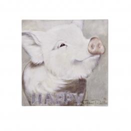 Bild Schweinchen, Leinwandprint, 50x50 cm
