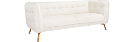 Como 3-Sitzer-Sofa aus Stoff, weiß