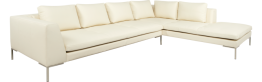 Montino 3-Sitzer-Sofa aus Leder, Chaiselongue rechts