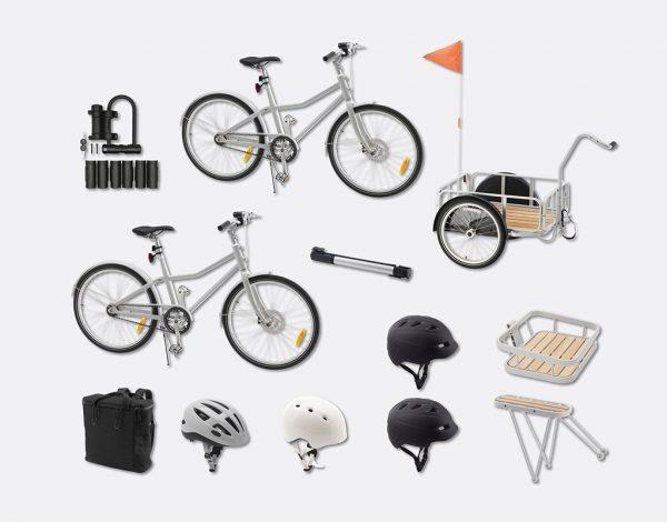 Das Fahrrad SLADDA kann mit dem passenden Zubehör für jeden Zweck ausgestattet werden