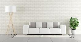 Eine Sofa in Weiß: gut gepflegt behält es lange seine Strahlkraft