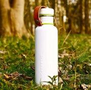 Wasserflasche groß weiß