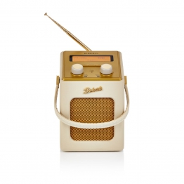 Retroradio Revival Mini, MP3/Smartphone, LCD, Sendersuchlauf, Retro-Look, Kunstleder