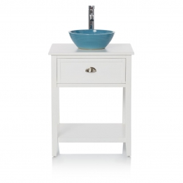 Waschtisch mit Becken, Landhausstil, MDF, Keramik