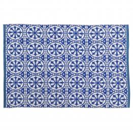 Outdoor-Teppich SANTORINI aus PVC, 160 x 230cm, blau/weiß