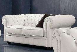Chesterfield 2-Sitzer Sofa weiß, »Kent«, Max Winzer®