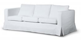 Karlanda 3-Sitzer Sofabezug nicht ausklappbar lang, weiss, Sofa Karlanda 3-lang, Cotton Panama