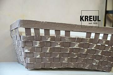 Kreul 75323 - Chalky Kreidefarbe, sanft - matte Farbe, cremig deckend, schnelltrocknend, für Effekte im Used Look, 150 ml Kunststoffdose, Snow White - 2