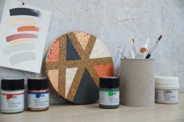 Kreul 75323 - Chalky Kreidefarbe, sanft - matte Farbe, cremig deckend, schnelltrocknend, für Effekte im Used Look, 150 ml Kunststoffdose, Snow White - 11