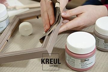 Kreul 75323 - Chalky Kreidefarbe, sanft - matte Farbe, cremig deckend, schnelltrocknend, für Effekte im Used Look, 150 ml Kunststoffdose, Snow White - 3