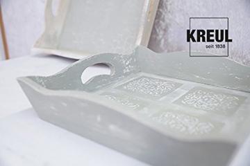 Kreul 75323 - Chalky Kreidefarbe, sanft - matte Farbe, cremig deckend, schnelltrocknend, für Effekte im Used Look, 150 ml Kunststoffdose, Snow White - 7