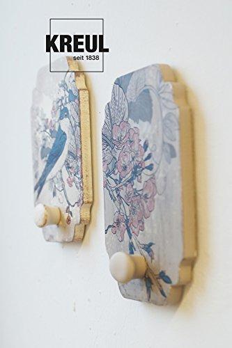 Kreul 75323 - Chalky Kreidefarbe, sanft - matte Farbe, cremig deckend, schnelltrocknend, für Effekte im Used Look, 150 ml Kunststoffdose, Snow White - 8
