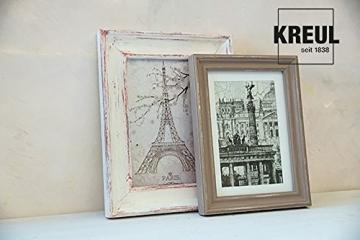 Kreul 75323 - Chalky Kreidefarbe, sanft - matte Farbe, cremig deckend, schnelltrocknend, für Effekte im Used Look, 150 ml Kunststoffdose, Snow White - 9