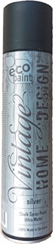 Vintage Kreide Spray silver 400ml Kreidefarbe silber Chalk Paint Shabby Chic Landhaus Stil Vintage Look - 1