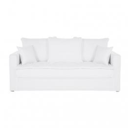 3-Sitzer-Sofa, Bezug aus gewaschenem Leinen, weiß Célestin