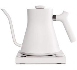 Fellow Stagg EKG | Elektrischer Kaffee- und Teekocher | Mattweiß | Variable Temperaturregelung | Schnelles Aufheizen | 1200 Watt Leistung | Eingebauter Timer | Fassungsvermögen 1L - 1