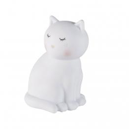 Nachtlicht Katze, weiß