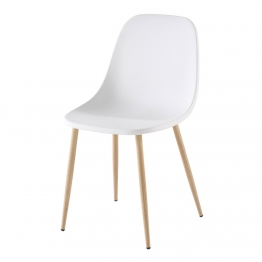 Moderner weißer Stuhl Fibule