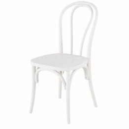 Stuhl aus Buchenholz, weiß Troquet
