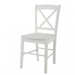 Stuhl aus Kautschukbaum, weiß Newport