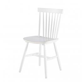 Stuhl im Vintage-Stil aus Kautschukbaum, weiß Fjord