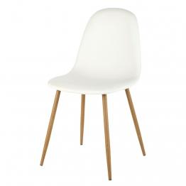 Stuhl in skandinavischem Stil, weiß Clyde