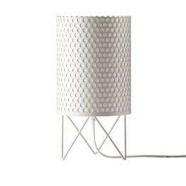 Gubi - Pedrera ABC PD4 Tischleuchte - weiß/lackiert/Ø 18,5cm/Kabel weiß