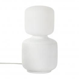 Tala - Reflection Oblo Tischleuchte - weiß/matt/H x Ø 28 x 16 cm/Gestell Porzellan/Kabel PVC weiß 300cm/Oblo LED E27 6W => 45W 540lm 2700K CRI95